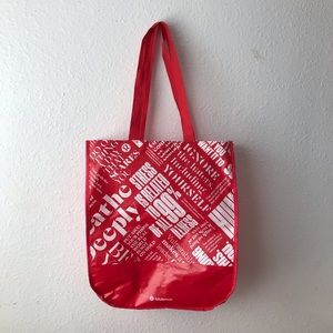 LULULEMON 🍋 Large Red Reusable Shopping Tote